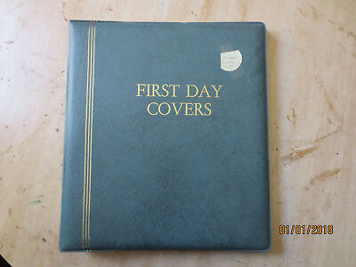 No-56- FDC  ALBUM   25  PAGES  DOUBLE  SIDED -3  RING  BINDER--GOOD ORDER