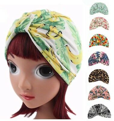 New Children's Stretch Cotton India Cap Turban Cap Baby Headband Hair Band