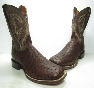 c629808e3e0 DAN POST ALAMOSA Ostrich Exotic Western Boots, Mens Size:13 Medium (B506)