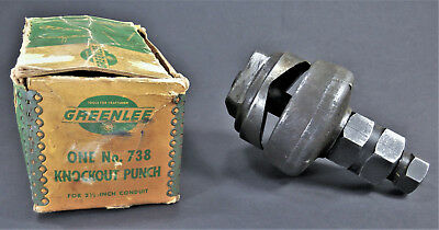 "One Greenlee No. 738 Knockout Punch For 2-1/2"" Standard Size Round Conduit"