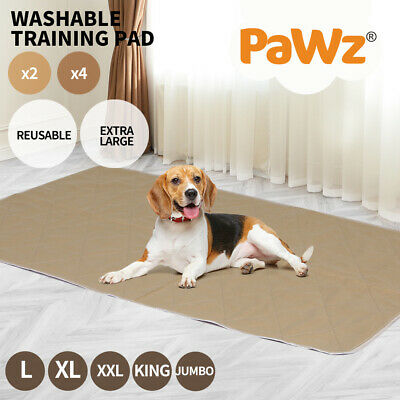 2x Reusable Dog Puppy Training Pee Pads Cushion Washable Waterproof BedMat 5Size