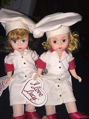Madame Alexander Dolls From I Love Lucy -Lucy And Ethel - Job Switching With Box