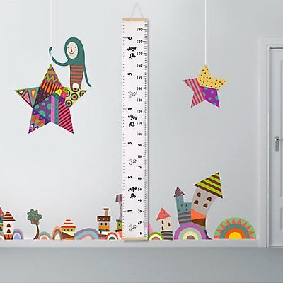 Kids Growth Chart Children Room Decoration Wall Hanging Height Measure Ruler