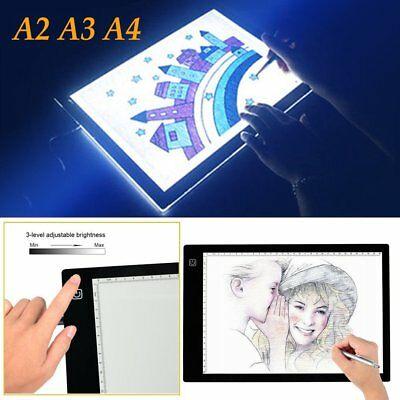 A2 A3 A4 LED Artist Thin Art Stencil Board Light Box Tracing Drawing Board SE