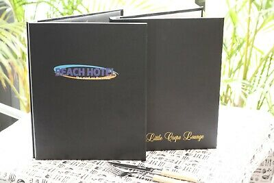 Faux Leather Menu Cover A4 Size Two Part Internal Spine + 3 Pockets FREE FREIGHT