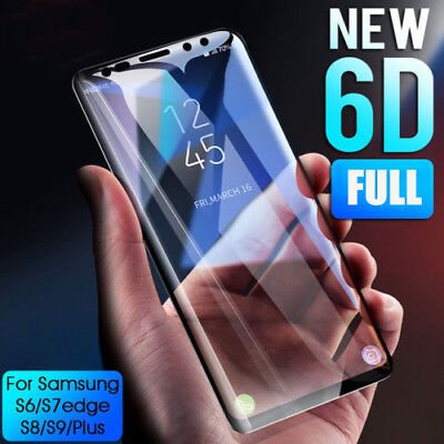 6D Tempered Glass Screen Protector Guard For Samsung Galaxy Note 8 9 S9 S10 +