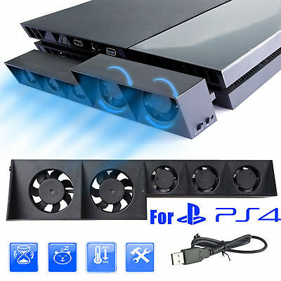 USB Temperature Cooling Cooler Fan for Sony Playstation 4 PS4 Game Console