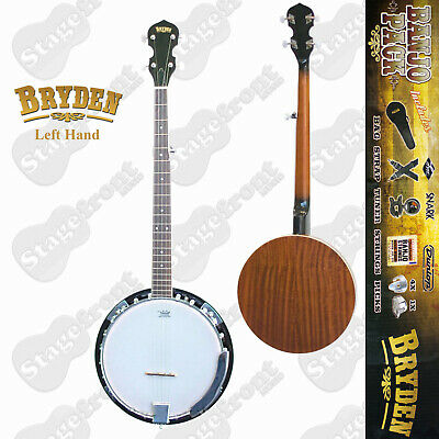 Bryden 5 String Left Hand Banjo Ultimate Beginners Pack Includes Accessories