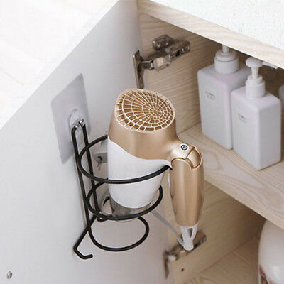 Punch-free Hair Dryer Iron Aluminum Alloy Wall Mount Holder Stand for Most Kinds