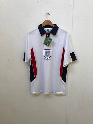 Score Draw Men s England Retro 1998 WC Home Shirt - Various Sizes Players -  New 3eaec15eb
