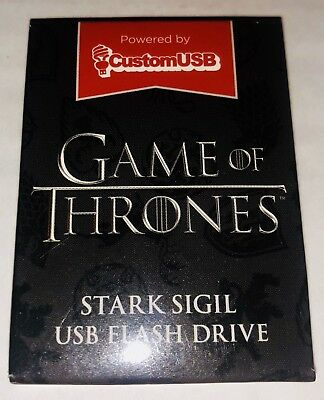 Brand New Loot Crate Exclusive Game Of Thrones Stark Sigil 4 Gb Usb Flash Drive!