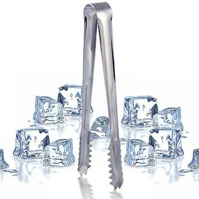 Stainless Steel Ice Cube Sugar Cookie Cake Tongs Kitchenware Buffet Dinner Tool.