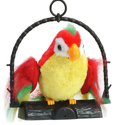 Waving Wings Talking Talk Parrot Imitates & Repeats Gift Funny Toy Game For Kids