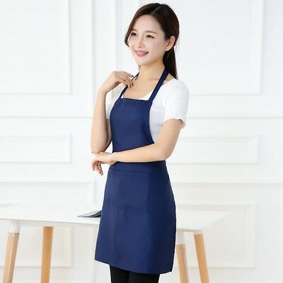 Apron With Pocket Chef Kitchen Cooking Cotton Women Men Unisex Ladies Bib Work V