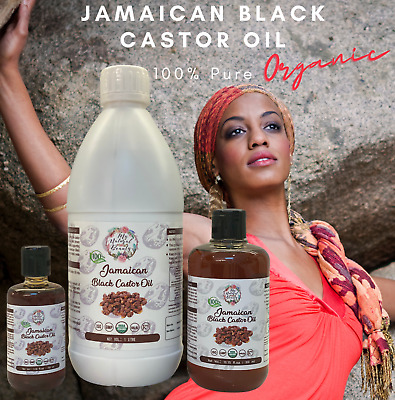 PREMIUM QUALITY! 100% PURE Jamaican Black Castor Oil -Hair GROWTH TREATMENT