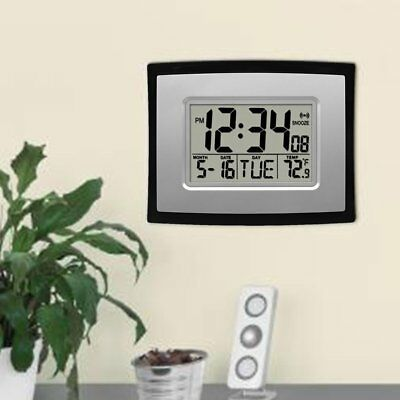 Hot Self Setting Digital LCD Home Office Decor Wall Clock Indoor Temperature XPE