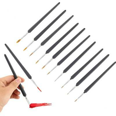 10 XExtra Fine Art Detail Paint Brushes Painting-10 Miniatures Model Maker Craft