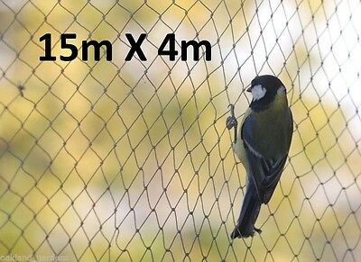 15m x 4m Wide Bird Netting Strong Garden Pond Fruit Anti Net Protection Veg Cage