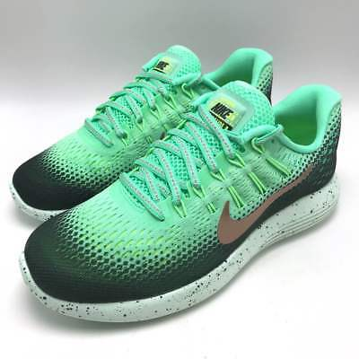 new product b6940 b5e77 Nike Lunarglide 8 Shield Women s Running Green Glow MTLC Red Bronze  849569-300
