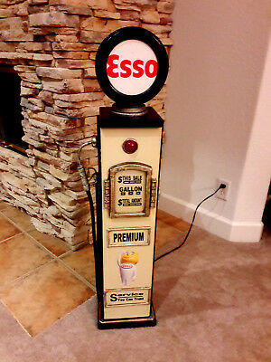 "42"" ESSO Gas Pump Cabinet with light. Mancave/Gameroom."
