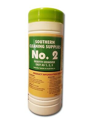 No 2 Graffiti Remover Wipes for Painted Surfaces