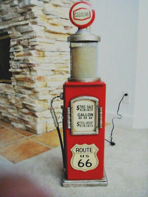 Red Route 66 Gas Pump Cabinet with Light. Mancave. Gameroom.