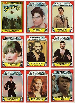 Superman II (2) - Complete 88 Trading Card SET - 1980 Topps - NM