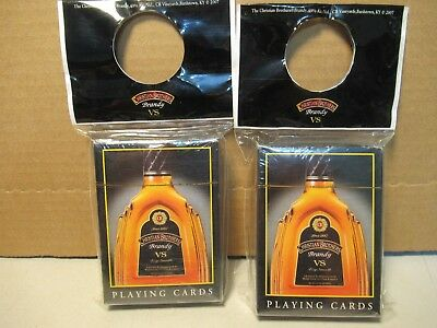 Playing Cards Christian Brothers Brandy Vintage Alcohol 2007 Lot of 2 NIP Decks