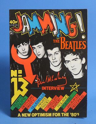 Rare and desirable Jamming! fanzine Beatles cover # 13 great graphic