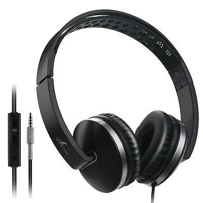 On Ear Headphones, Vive Comb Foldable Headphones with Microphone Lightweight