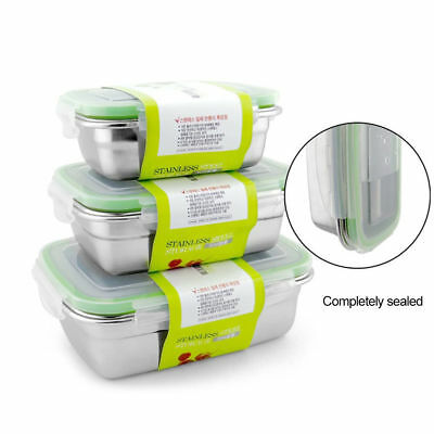Stainless Steel Thermal Insulated Lunch Box Bento Food Container Layers Storag