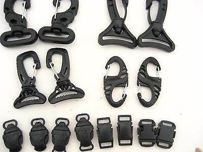 20pcs KAM quality Swivel Trigger Clip 8 shaped Carabiner Clip hook POM buckles