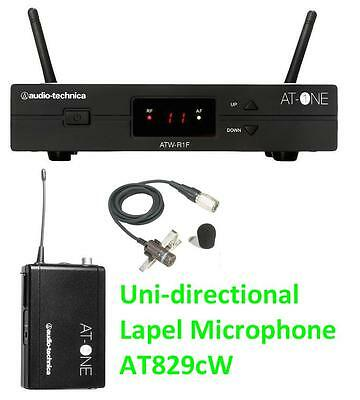 Audio Technica AT One ATW-11F & AT829 - Uni-D Lapel Wireless Microphone & CASE