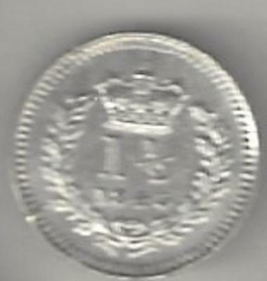 1843 Great Britain used in British Guiana-West Indies 1 1/2d Silver Low Mintage