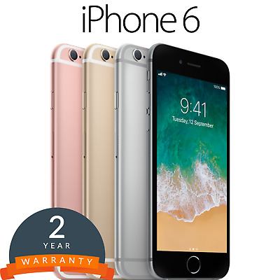Apple iPhone 6 Smartphone 16/32/64/128GB in Gold/Silver/Grey- Unlocked
