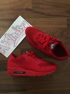 los angeles 1a0ac fc800 Nike Air Max 90 Usa Independence Day Sport Red Hyperfuse Qs Uk8 Us9