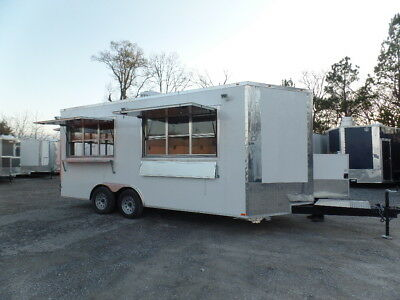 8.5x18 Concession White Catering Event Trailer