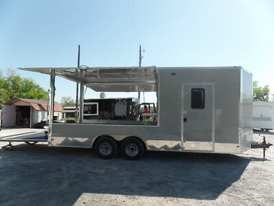 Completion 8.5x20 Dove Grey BBQ Event Concession Trailer
