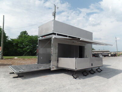 Concession 8.5x19 Arizona Beige Custom Stage Trailer