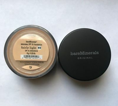 Bare Minerals Escentuals SPF 15 Foundation Fairly Light N10 8g XL (PACK OF TWO)