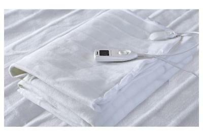 Polyester Fully Fitted Heated Electric Blanket with Timer Single