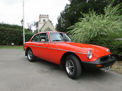 MGB GT. 76,200 genuine miles. Excellent condition. A rare find in this condition