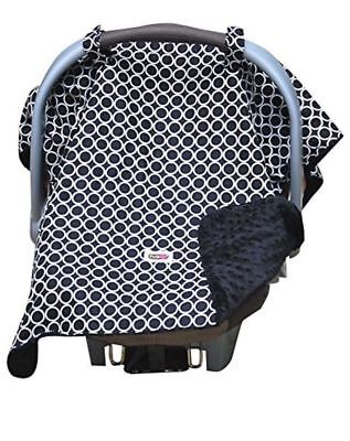 Padalily Infant Car Seat Canopy Cover Blanket Ring Black NEW 005489