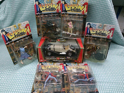 TOYCOM/YAMATO Lupin The 3rd FULL SET OF 6 FIGURES PLUS VARIANT+UNOFFICIAL CAR
