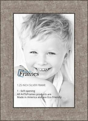 ArtToFrames 6x9 inch Silver Style Picture Frame, 2WOMBW26-050-6x9