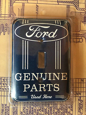 Ford Genuine Parts Used Here Light Switch Cover, Man Cave, Ford Collector, Metal