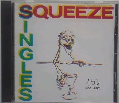 Squeeze Singles 45's and Under CD 1995 A&M New Wave Pulling Mussels Best Of