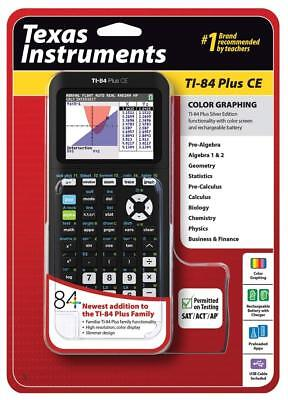 NEW Texas Instruments TI-84 Plus CE Graphing Calculator Black Coral/Pink