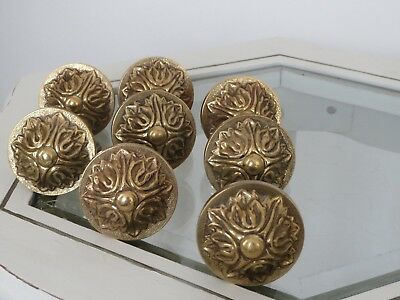 Antique-French-Brass-Finials-Curtain-Pole-Ends-Brass-Super condition