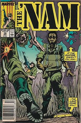 The 'Nam #38 December 1989 Marvel Comics. Booby Trapped. +Free Bonus Issue